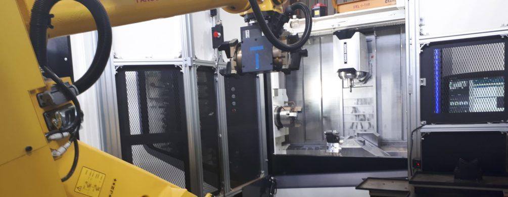 Fanuc Robot Cell with DMG 4 Axis Machining Centre | Redback